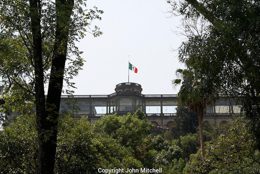 The Castillo de Chapultepec in Chapultepec Park, Mexico City