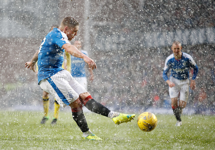 Martyn Waghorn scores from the penalty spot