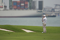Paul McGinley (IRL) waits to play his 2nd shot on the 6th hole during Friday's resumed Round 2 of the 2011 Barclays Singapore Open, Singapore, 11th November 2011 (Photo Eoin Clarke/www.golffile.ie)