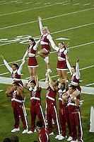 16 September 2006: Cheerleaders during Stanford's 37-9 loss to Navy during the grand opening of the new Stanford Stadium in Stanford, CA.