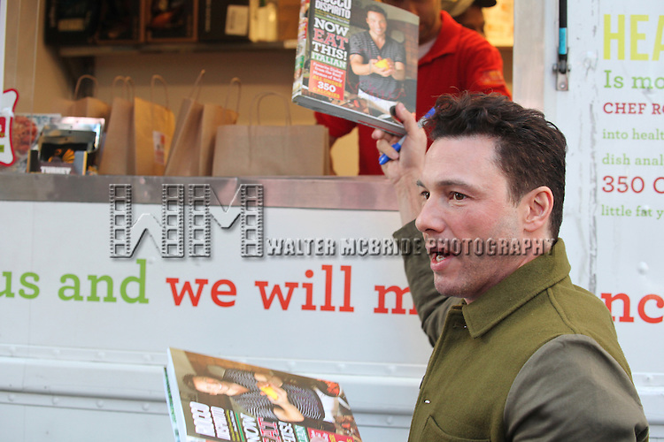 Chef Rocco Dispirito (Food Truck) promotes his new book 'Now Eat This! Italian' on Good Morning America in Times Square on Tuesday, Sept. 25, 2012 in New York.