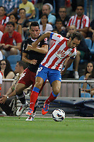 27.08.2012 SPAIN -  La Liga 12/13 Matchday 2th  match played between Atletico de Madrid vs Athletic Club de Bilbao (4-0) with hat-trick Radamel Falcao at Vicente Calderon stadium. The picture show Juan Francisco Torres (Spanish midfielder of At. Madrid)