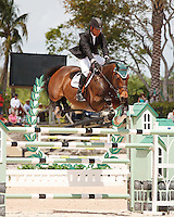 Walk About ridden by Jimmy Tarano,  USEF trials#2 Wellington Florida. 3-22-2012