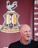 Bradford City's new Manager Simon Grayson during Press Conference at the Northern Commercial Stadium, Bradford, England on 15 February 2018. Photo by Thomas Gadd.