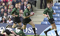 Sport - Rugby 27/04/2002 Parker Pen Shield - Semi-Final.London Irish vs Pontypridd - Kassam Stadium - Oxford.Michael Horak runs in for a try..[Mandatory Credit, Peter Spurier/ Intersport Images].