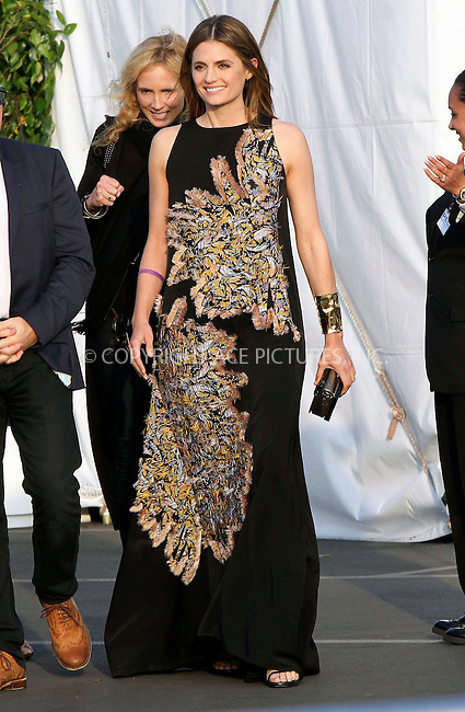 WWW.ACEPIXS.COM<br /> <br /> February 21 2015, Los Angeles CA<br /> <br /> Actress Stana Katic arriving at the 2015 Film Independent Spirit Awards at Santa Monica Beach on February 21, 2015 in Santa Monica, California.<br /> <br /> <br /> Please byline: Nancy Rivera/ACE Pictures<br /> <br /> ACE Pictures, Inc.<br /> www.acepixs.com, Email: info@acepixs.com<br /> Tel: 646 769 0430