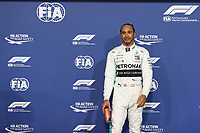 30th November 2019; Yas Marina Circuit, Abu Dhabi, United Arab Emirates; Formula 1 Abu Dhabi Grand Prix, qualifying day; Mercedes AMG Petronas Motorsport, Lewis Hamilton takes pole - Editorial Use