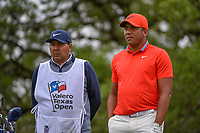 Jhonattan Vegas (VEN) looks over his tee shot on 2 during day 4 of the Valero Texas Open, at the TPC San Antonio Oaks Course, San Antonio, Texas, USA. 4/7/2019.<br /> Picture: Golffile | Ken Murray<br /> <br /> <br /> All photo usage must carry mandatory copyright credit (© Golffile | Ken Murray)