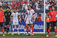 CHICAGO, IL - OCTOBER 06: Allie Long #20 of the United States during a game between the USA and Korea Republic at Soldier Field, on October 06, 2019 in Chicago, IL.