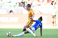 Carson, CA - Thursday August 03, 2017: Elise Kellond-Knight, Chu during a 2017 Tournament of Nations match between the women's national teams of Australia (AUS) and Brazil (BRA) at the StubHub Center.