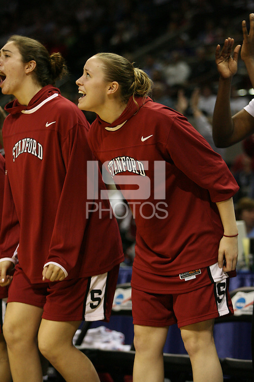 27 March 2006: Christy Titchenal during Stanford's 62-59 loss to LSU during the NCAA Women's Basketball tournament Elite Eight round in San Antonio, TX.