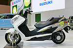 Suzuki Burgman Fuel-Cell on display during the first press day for the 41th Tokyo Motor Show, 21 October 2009 in Tokyo (Japan). The TMS will be open for the public from 23 October 2007 to 4 November 2009.