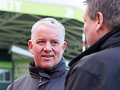 4th November 2017, Welford Road, Leicester, England; Anglo-Welsh Cup, Leicester Tigers versus Gloucester;  The match officials' pitch-side communications manager Peter Hardy awaiting the start of the game