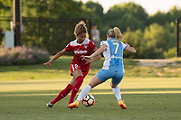 Boyds, MD - Saturday June 03, 2017:  Estelle Johnson, Kealia Ohai during a regular season National Women's Soccer League (NWSL) match between the Washington Spirit and the Houston Dash at Maureen Hendricks Field, Maryland SoccerPlex