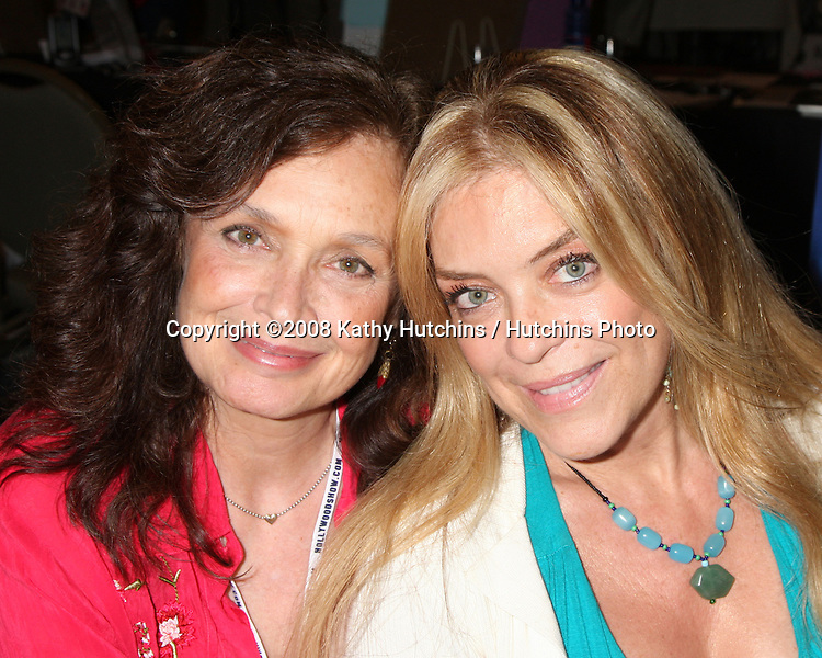 Deborah Van Valkenburgh & Lydia Cornell  at the Hollywood Collector's Show in Burbank,  CA   on July 18, 2009 .©2008 Kathy Hutchins / Hutchins Photo..