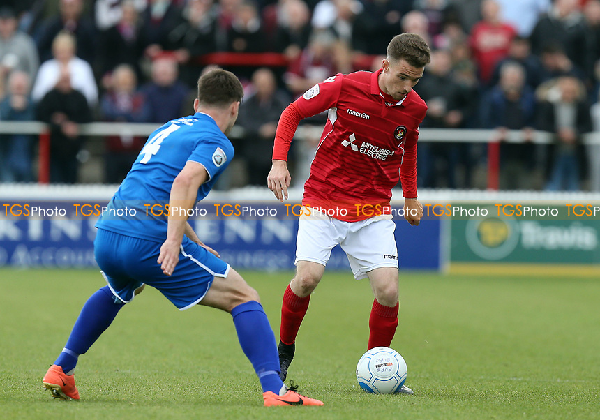 Jack Connors of Ebbsfleet United and Max Porter of Chelmsford City during Ebbsfleet United vs Chelmsford City, Vanarama National League South Play-Off Final Football at The PHB Stadium on 13th May 2017