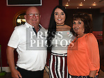 Megan Shevlin celebrating her 21st birthday in Brú with grandparents Pat and Patricia Gorman. Photo:Colin Bell/pressphotos.ie