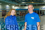 Grace Reidy from Tralee with swimming coach Ger McDonnell pictured last Friday Dec 6 at Tralee sports complex. Grace was chosen for Olympic 2024 elite training programme.