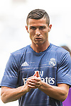 Cristiano Ronaldo of Real Madrid reacts in training prior to the La Liga match between Real Madrid CF and SD Eibar at the Santiago Bernabéu Stadium on 02 October 2016 in Madrid, Spain. Photo by Diego Gonzalez Souto / Power Sport Images