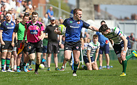 Monday 22nd April 2019 | 2019 McCrea Cup Final<br /> <br /> Curtis Dundass during the McCrea Cup final between Queens 2s and Grosvenor at Kingspan Stadium, Ravenhill Park, Belfast. Northern Ireland. Photo John Dickson/Dicksondigital