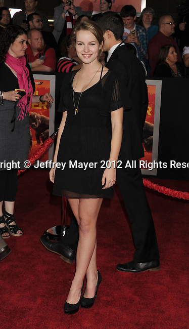 LOS ANGELES, CA - FEBRUARY 22: Bridgit Mendler attends the 'John Carter' Los Angeles premiere held at the Regal Cinemas L.A. Live on February 22, 2012 in Los Angeles, California.
