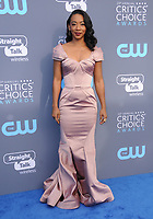 11 January 2018 - Santa Monica, California - Betty Gabriel. 23rd Annual Critics' Choice Awards held at Barker Hangar. <br /> CAP/ADM/BT<br /> &copy;BT/ADM/Capital Pictures