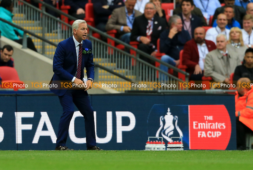 Crystal Palace manager Alan Pardew during Crystal Palace vs Manchester United, Emirates FA Cup Final Football at Wembley Stadium on 21st May 2016