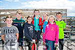 l-r Darragh Quirke, Eoin Lyne, Fionnuala Ni Chathasaigh, Siobhan Ni Lyne, Maria Nix, Thomas O'Sullivan and Eabha Ni Lyne at the Maharees Regatta on Sunday
