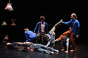 """Wild Card at Sadler's Wells presents Leila McMillan's """"thisway, that way"""", in the Lilian Baylis Studio. The evening comprises two pieces - """"Lucid"""" & """"Family Portrait"""". This piece is """"Family Portrait"""", and features dancers Typhaine Delaup, Martha Pasakopoulou, Karolina Kraczkowksa, Danilo Caruso, Karl Fagerlund Brekke, Faith Prendergast, Monsur Ali and musician, Domenico Angarano."""