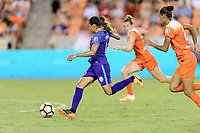 Houston, TX - Saturday June 17, 2017: Marta Vieira Da Silva races towards the Houston goal during a regular season National Women's Soccer League (NWSL) match between the Houston Dash and the Orlando Pride at BBVA Compass Stadium.