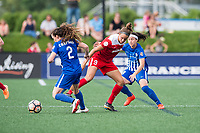 Boston, MA - Saturday July 01, 2017: Allysha Chapman, Havana Solaun and Tiffany Weimer during a regular season National Women's Soccer League (NWSL) match between the Boston Breakers and the Washington Spirit at Jordan Field.