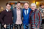 Proinnsias Ó Cathasaigh, Máirtín Ó Cathasaigh (recipient) Liam Ó Cathasaigh and Mairead Uí Cathasaigh, Lisle, attending the Lee Strand/Kerry Garda Youth Achievement Awards 2017 at Ballyroe Heights Hotel, Tralee, on Friday night last.
