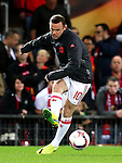 Wayne Rooney of Manchester United warms up during the UEFA Europa League match at Old Trafford Stadium, Manchester. Picture date: September 29th, 2016. Pic Matt McNulty/Sportimage