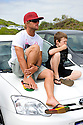 Australian Josh Kerr and Collin at the Margaret River carpark, Western Australia.