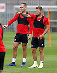 Chris Hussey and Billy Sharp during the training session at the Shirecliffe Training complex, Sheffield. Picture date: June 27th 2017. Pic credit should read: Simon Bellis/Sportimage