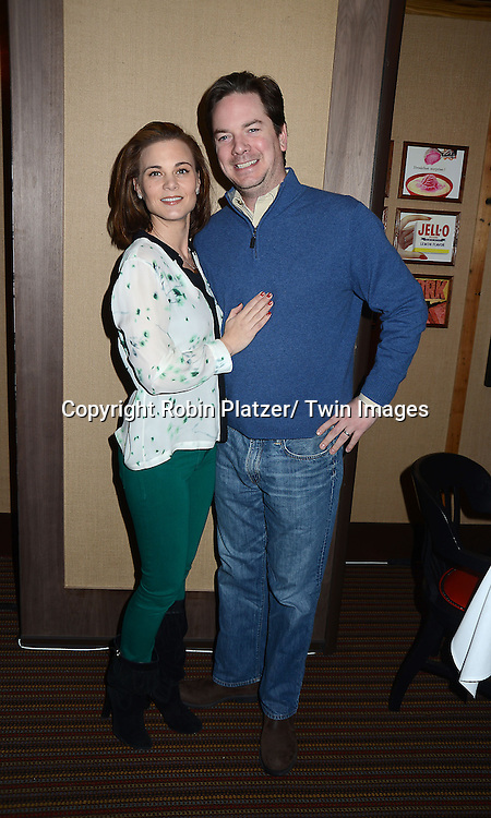 """Gina Tognoni and husband Joe Chiarello attends the Ricky Paull Goldin premiere party and fundraiser for his new HGTV show """"Spontaneous Construction"""" which will air on February 15, 2013. The party was on February 10, 2013 at Guy's American Kitchen in New York City."""