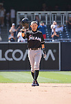 Ichiro Suzuki (Marlins),<br /> JUNE 15, 2016 - MLB :<br /> Ichiro Suzuki of the Miami Marlins tips his cap to fans after hitting a double to the right for his 4257th career hit in the ninth inning during the Major League Baseball game against the San Diego Padres at Petco Park in San Diego, California, United States. (Photo by Thomas Anderson/AFLO) (JAPANESE NEWSPAPER OUT)