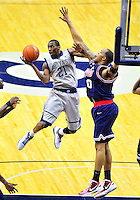 Jason Clark of the Hoyas loses the ball while going for layup. Georgetown defeated Memphis 70-59 at the Verizon Center in Washington, D.C. on Thursday, December 22, 2011. Alan P. Santos/DC Sports Box