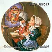 CHILDREN, KINDER, NIÑOS, paintings+++++,USLGSK0045,#K#, EVERYDAY ,Sandra Kock, victorian