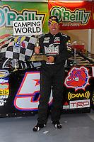 25-26 April, 2009, Kansas City, Kansas, USA.Mike Skinner in Victory Lane..©F. Peirce Williams 2009 USA.LAT Photographic