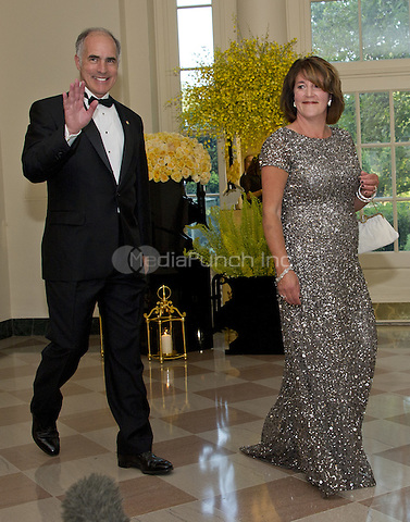 United States Senator Bob Casey (Democrat of Pennsylvania) and Terese Foppiano Casey arrive for the State Dinner honoring Prime Minister Lee Hsien Loong of the Republic of Singapore at the White House in Washington, DC on Tuesday, August 2, 2016.<br /> Credit: Ron Sachs / Pool via CNP/MediaPunch
