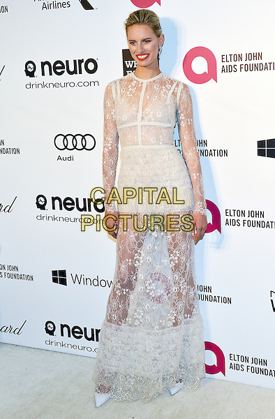 02 March 2014 - West Hollywood, California - Karolina Kurkova. 22nd Annual Elton John Academy Awards Viewing Party held at West Hollywood Park. <br /> CAP/ADM/CC<br /> &copy;CC/AdMedia/Capital Pictures