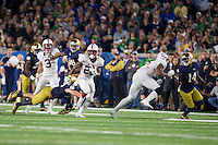 South Bend, IN -- October 15, 2016. The Stanford Cardinal vs. the Notre Dame Irish at Notre Dame Stadium. Final score Stanford 17, Notre Dame 10.