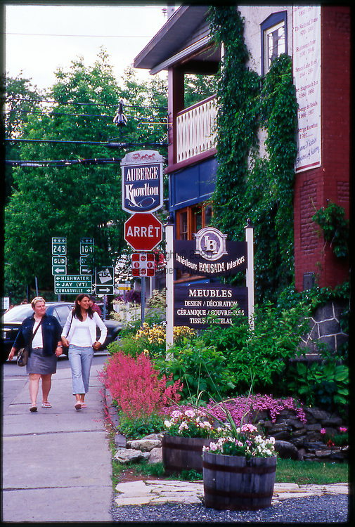 Along the street in downtown Knowlton, in the Eastern Townships of Quebec