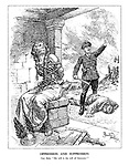 "Oppression and Suppression. Nazi Bully. ""My will is the will of Germany."" (German heroic legend Brunnhilde has been bound and gagged while a Nazi has beaten to death a civilan man and burnt his house)"
