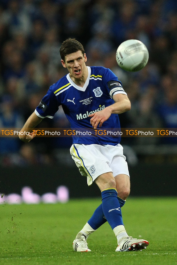 Mark Hudson of Cardiff City- Cardiff City vs Liverpool - Carling Cup Final at Wembley Stadium, London - 26/02/12 - MANDATORY CREDIT: George Phillipou/TGSPHOTO - Self billing applies where appropriate - 0845 094 6026 - contact@tgsphoto.co.uk - NO UNPAID USE.