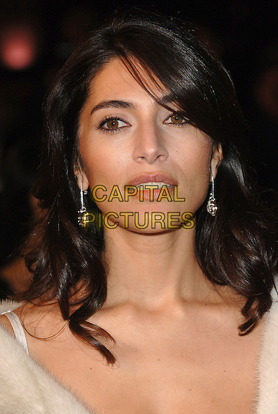 "CATERINA MURINO.The world premiere of ""Casino Royale"", Odeon Leicester Square, London, England..November 14th, 2007.james bond 007 portrait headshot earrings .CAP/BEL.©Belcher/Capital Pictures"