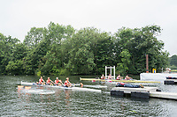 Henley-on-Thames. United Kingdom. Heat ofthe Prince Albert Challenge Cup.  Left. Berks, University of Virginia USA vs Colgate University USA. Both Crews moving away from the start, on day 1 of the 2017 Henley Royal Regatta, Henley Reach, River Thames. <br /> <br />  Wednesday  28/06/2017   <br /> <br /> [Mandatory Credit. Peter SPURRIER/Intersport Images.