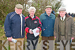 Listowel Coursing: Attending Listowel coursing meeting on Sunday were Brendan Purcell, Ballyduff, Johnny Carroll, Tralee, Donie Lynch, Causway & Dominick O'Brien, Tralee.