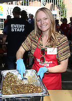 Los Angeles, CA - NOVEMBER 23: Marci Miller, At Los Angeles Mission Thanksgiving Meal For The Homeless At Los Angeles Mission, California on November 23, 2016. Credit: Faye Sadou/MediaPunch